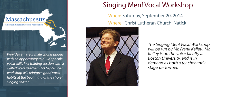 Singing Men! Vocal Workshop